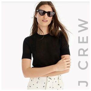 J CREW NWT Navy short sleeved sweater